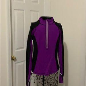 lululemon purple and black pullover